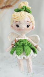 Green Frog Crochet - Thuy Anh - Đặng Thùy Anh - Tinker Bell - Spanish - Translated