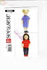 Sew & Sew- B5552-Doll Cloth /English,French