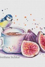 Tit with Figs by Svetlana Sichkar