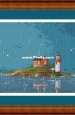 Dawn soon (lighthouse) by Svetlana Nemiritskaya / sv_stitch