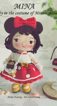 Ani handmade house VN - Khac Huong - Mina Baby in the costume of Minnie Mouse -  Bebê Mina em trajes de Minnie Mouse - Portuguese - Translated