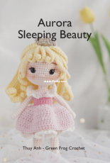 Green Frog Crochet - Thuy Anh -  Aurora Sleeping Beauty