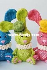 Natura crochet - Natasha Tishchenko - Easter Bunny Martik