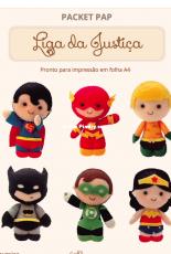 Timart - Packet Pap - Liga da Justiça - Felt - Portuguese