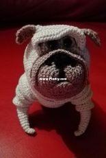My new crochet friend...Pug Benedict.