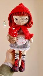 Aukillu Creative Crochet - Monica Santos Schneider - Little Red Hood - Caperucita roja - Spanish