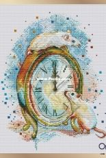 Fun Sheep - Rats and Clock by Anastasia Kravtsova / Eremeeva
