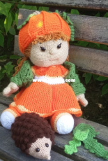 Design by Polly and Paule -  Kaija the pumpkin girl - German