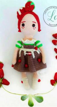Kedi Peri Atölyesi / Atölyeleri - By Sedef - Sedef Bay - Strawberry Fairy Girl - Free - Spanish