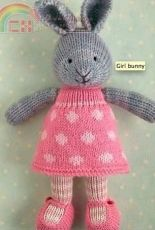 Little Cotton Rabbits-Bunny Girl in a Dotty Dress by Julie Williams
