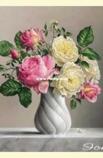 EstE 286 Roses in a Twisted Vase XSD