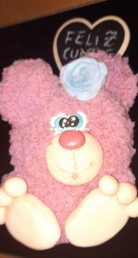 Pink pompom bear