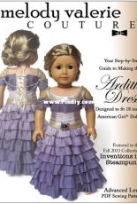 """Melody Valerie Couture - Ardith Dress for 18"""" Doll"""