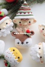 RNata - Natalia Ruzanova - Christmas decoration - Reindeer - Elf - Santa and Cake