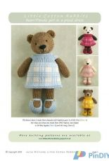 Little Cotton Rabbits-Bear/Panda Girl in a plaid Dress by Julie Williams