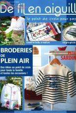 De Fil en Aiguille- DFEA-N° 70-2009-Broderies de Plein Air