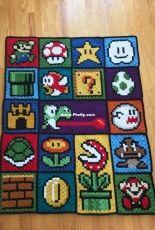 C2C technique Super Mario Bros blanket