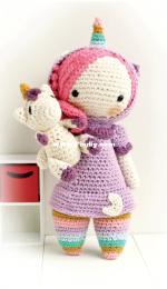 Lulu Loop Crochet - Yumigurumi - America Lira - Luna The Unicorn Girl - Luna la chica unicornio - Spanish
