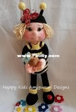 Happy Kids Amigurumi Design - Honey Bee Doll