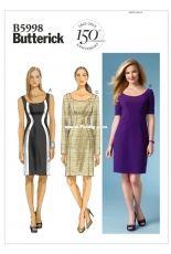 Butterick B5998 Womens dresses set sewing pattern (sizes US 8-16).