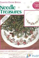 Needle Treasures JCA 02905 - Sugar Plum Lane Tree Skirt PCS