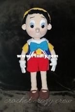 Puppet Boy pinocchio by The crochet crazy crew