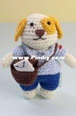 Ollie Holly Crochet - Postal Worker Puppy - Free