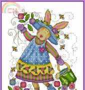 Gardening Bunny by Joan Elliott from TWOCS 228