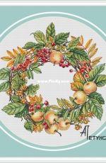 Wreath with apples by Anna Petunova