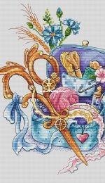 Cross Magic Stitch - Copper Scissors by Tascha Volk