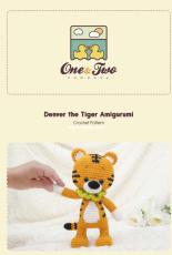 One and Two Company - Carolina Guzman - Denver the Tiger Amigurumi