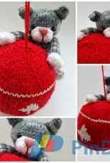 Swinging Kitty Ornament - Justyna Kacprzak-Cute and Kaboodle-English