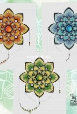 Kseniya Glushkova - Mandala 3 colorways