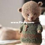 Straw animals - Julia - Juliya Ustimenko -  Mini Bear -  Russian