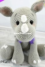 Sweet Oddity Art - Carolyne Brodie - Rage the Rhino Crochet Pattern