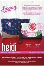 Swoon Sewing Patterns - Heidi Foldover Clutch & Wristlet