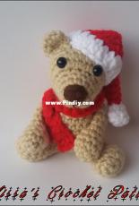 Melissas Crochet Patterns - Melissa Trenado - Baby Christmas Bear  - Free