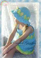 Crochet Garden - Lisa Naskrent - Blossoming Beauty Sundress Toddler