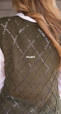 Kaitlin Barthold - Argyle Sweater Vest - free