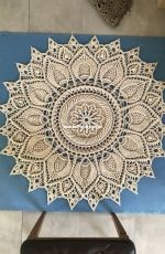 Gigantic Floor rug made from the Ulita doily