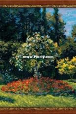 Riolis 1225 - Lady in the Garden by Monet Painting ,XSD