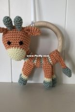 Jookz creaties - Joke Postma - Giraffe Rattle - Dutch