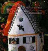 Small Town in 3D Cross Stitch - Witch house
