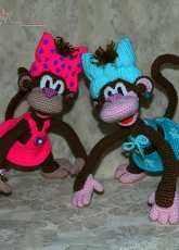 Pichugina Elena -Coco the Monkey girl and Coconut the Monkey boy