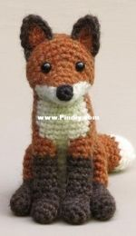 Sons Popkes - Sonja van der Wijk - Flamsie, realistic crochet fox - English