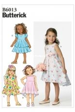 Butterick B6013 Set of Girls dresses sewing paterns (sizes 2-5 years).