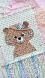 Plyushki Toys - Tatsiana Paddubskaya / Tatiana Poddubskaya - Wall Hanging Teddy Bear  Indian - English