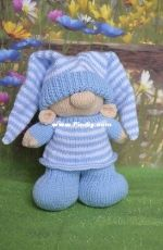 Bed Time Gnome by Knitting by Post