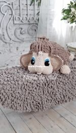 Clouds By Iris - Klyut Irina - Baby mammoth Pillow