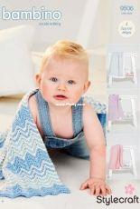 Stylecraft 9506 - Baby Blankets in DK